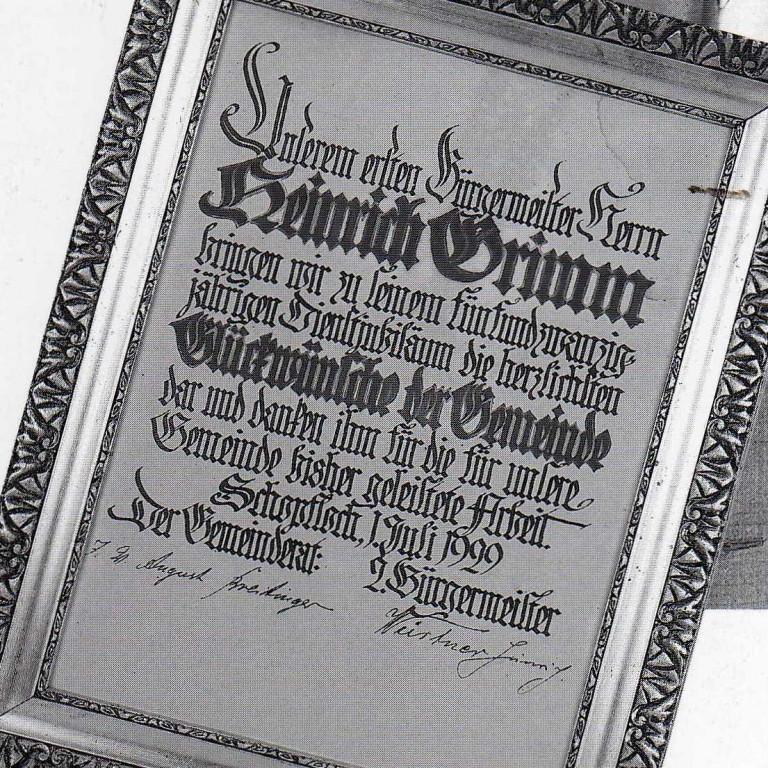 25 Jahre Dienstjubiläum Grimm